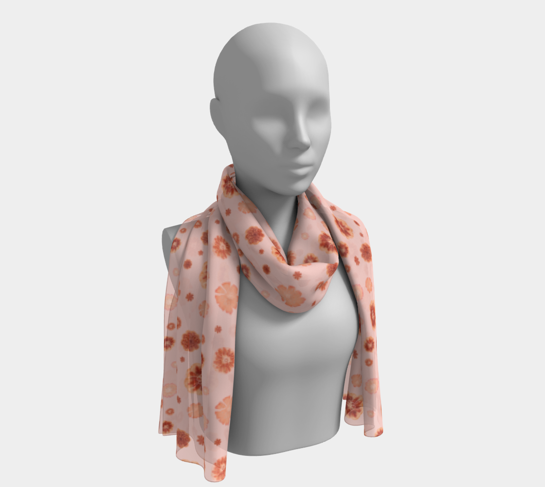 Blush Pink and Coral Blossoms Floral Pattern preview