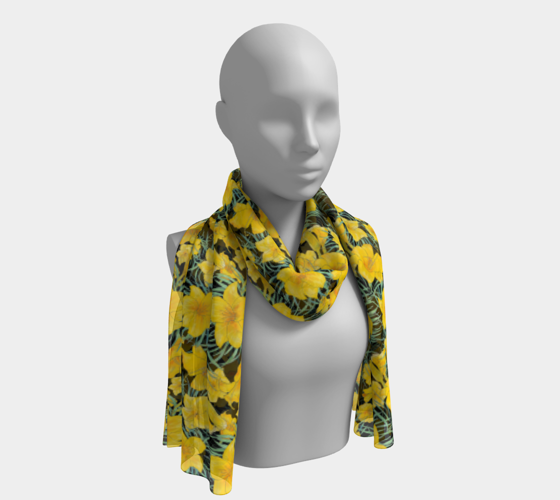 Yellow Daylily Floral Pattern - Aloha Hawaii Style preview