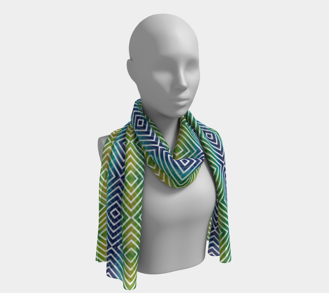 Abstract Squares Pattern Long Scarf preview
