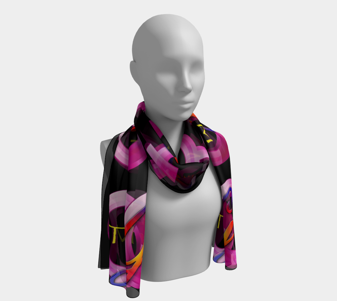 Official Bestie Power Logo Long Scarf preview