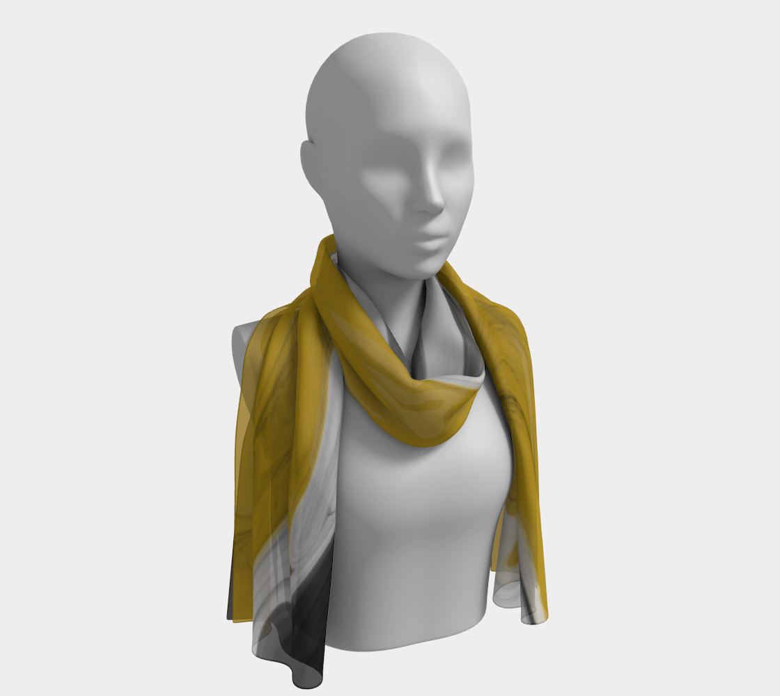 Liquid Black Gold Long Scarf preview #1