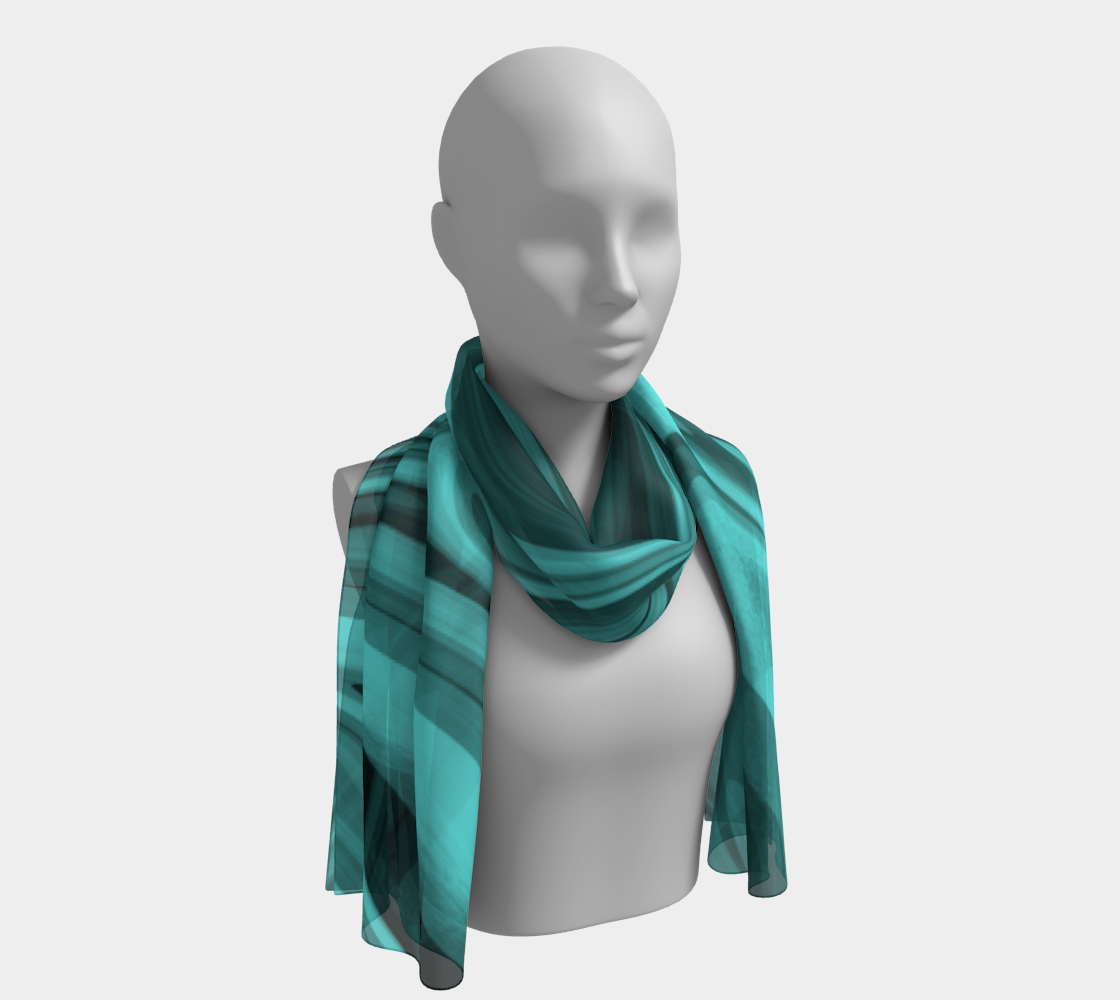 Teal Twirl Long Scarf preview