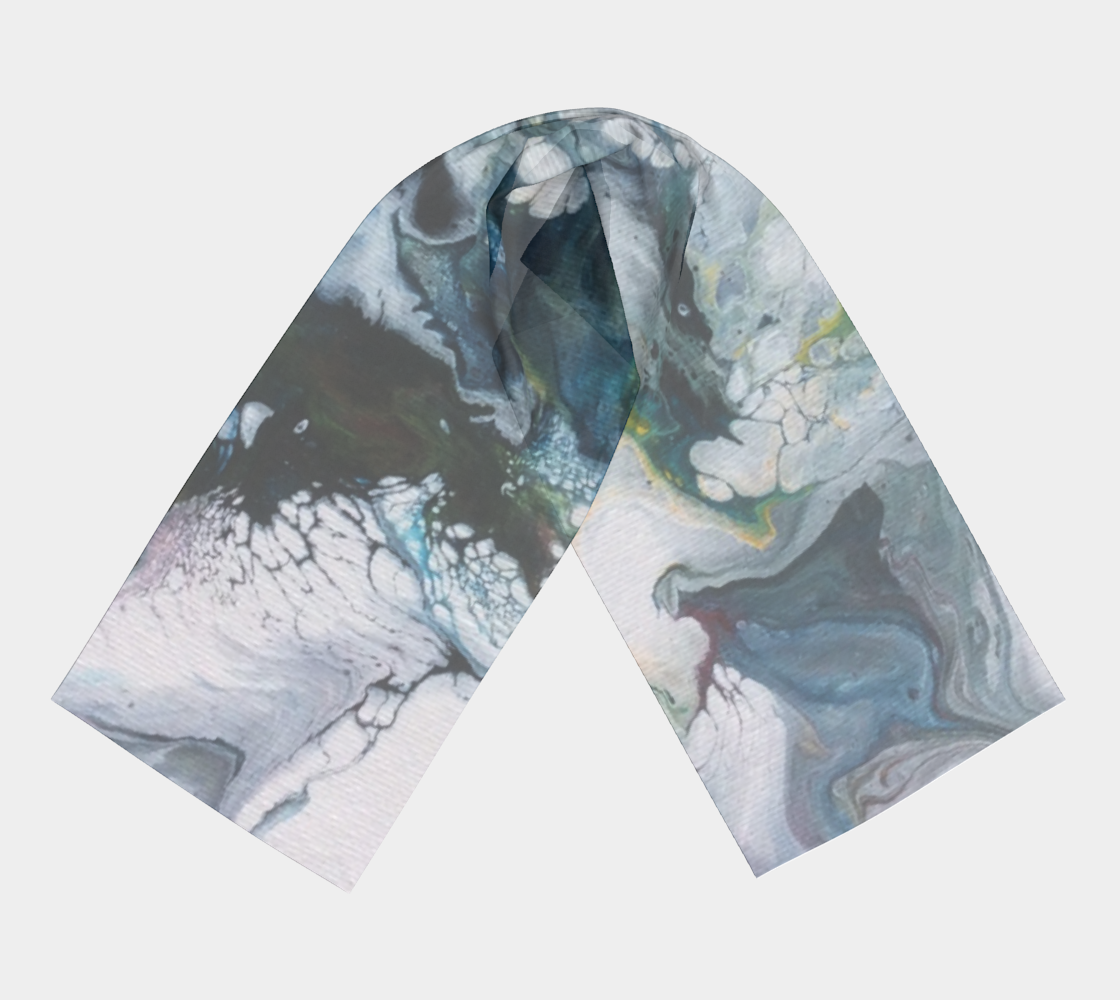 Aperçu de Le lys des glaces - Foulard long #3