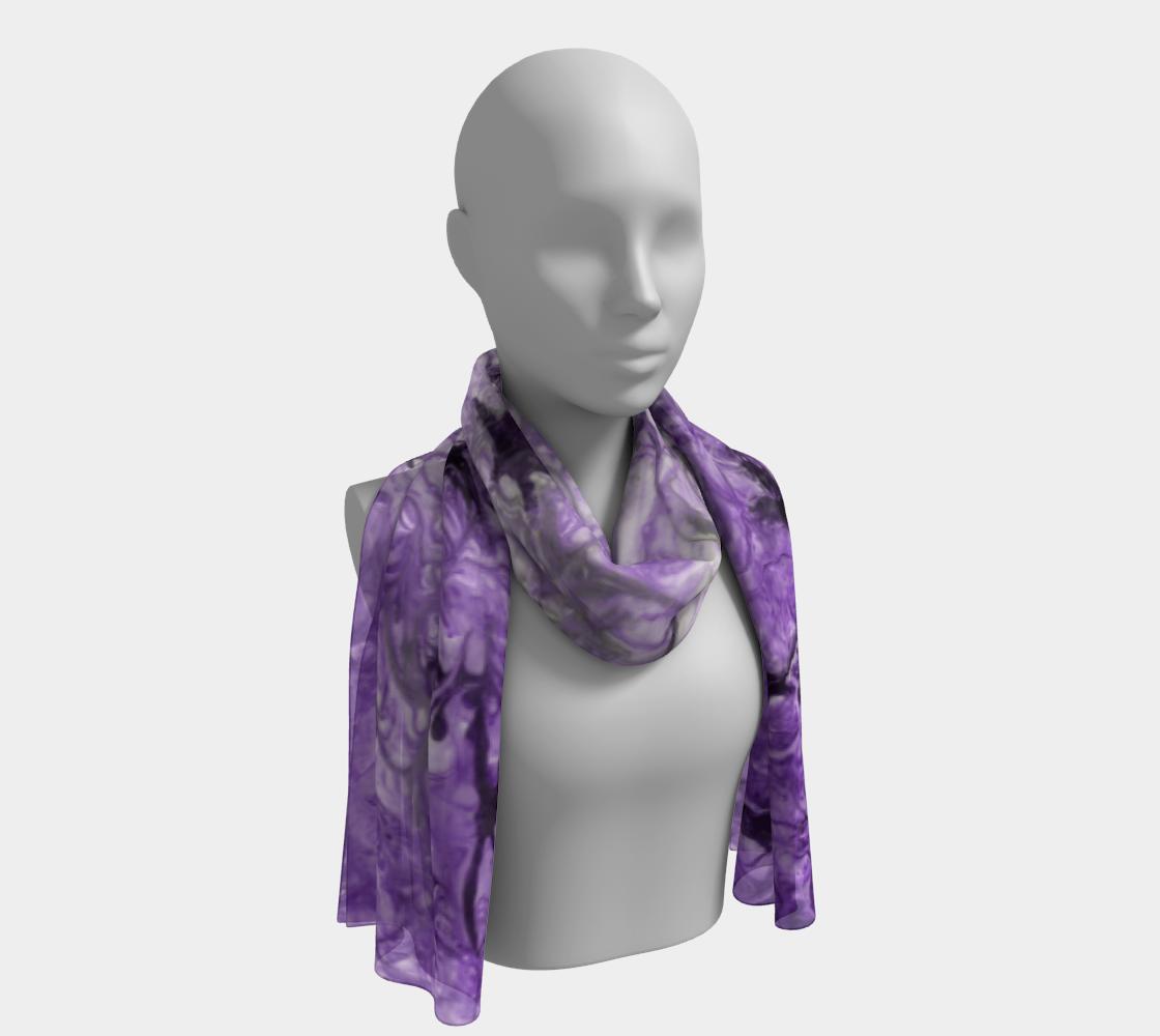 Aperçu de Birds of a Feather Purple long scarf