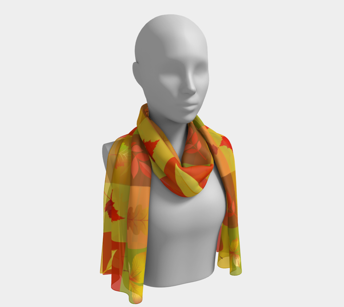 Fall Collage Long Scarf preview