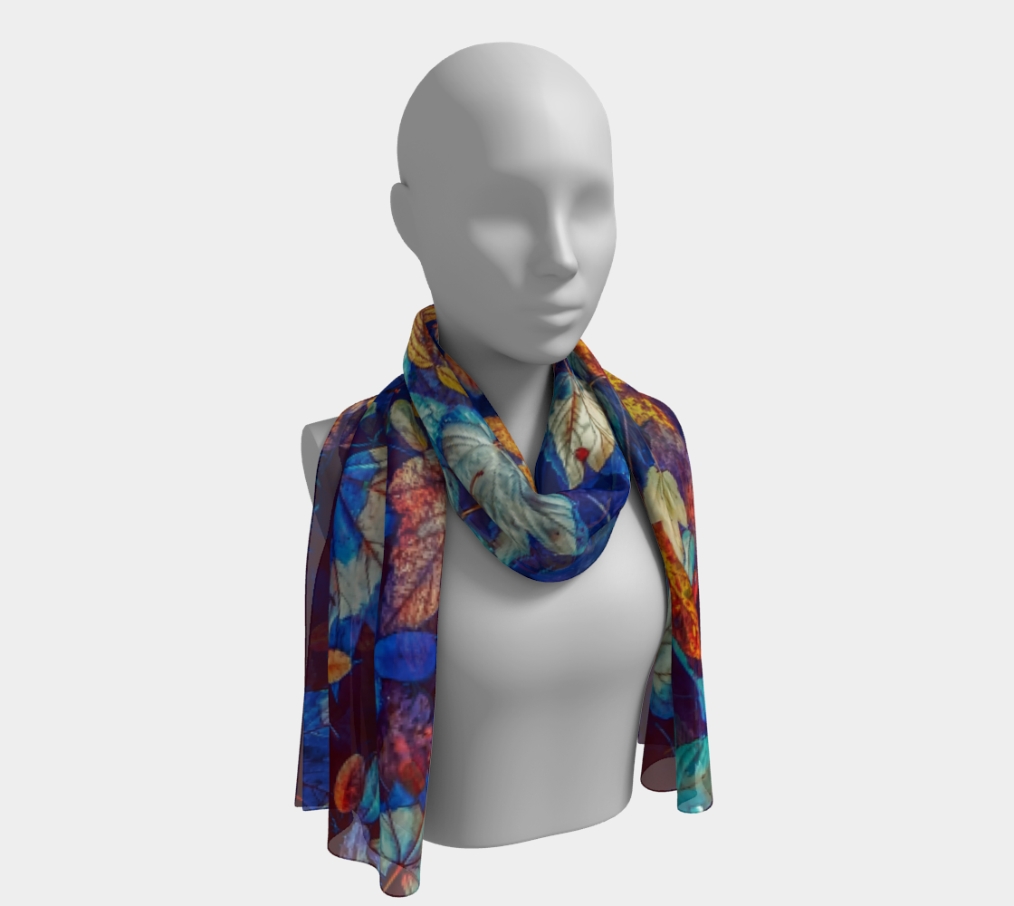 Fall Leaves Negative Long Scarf preview