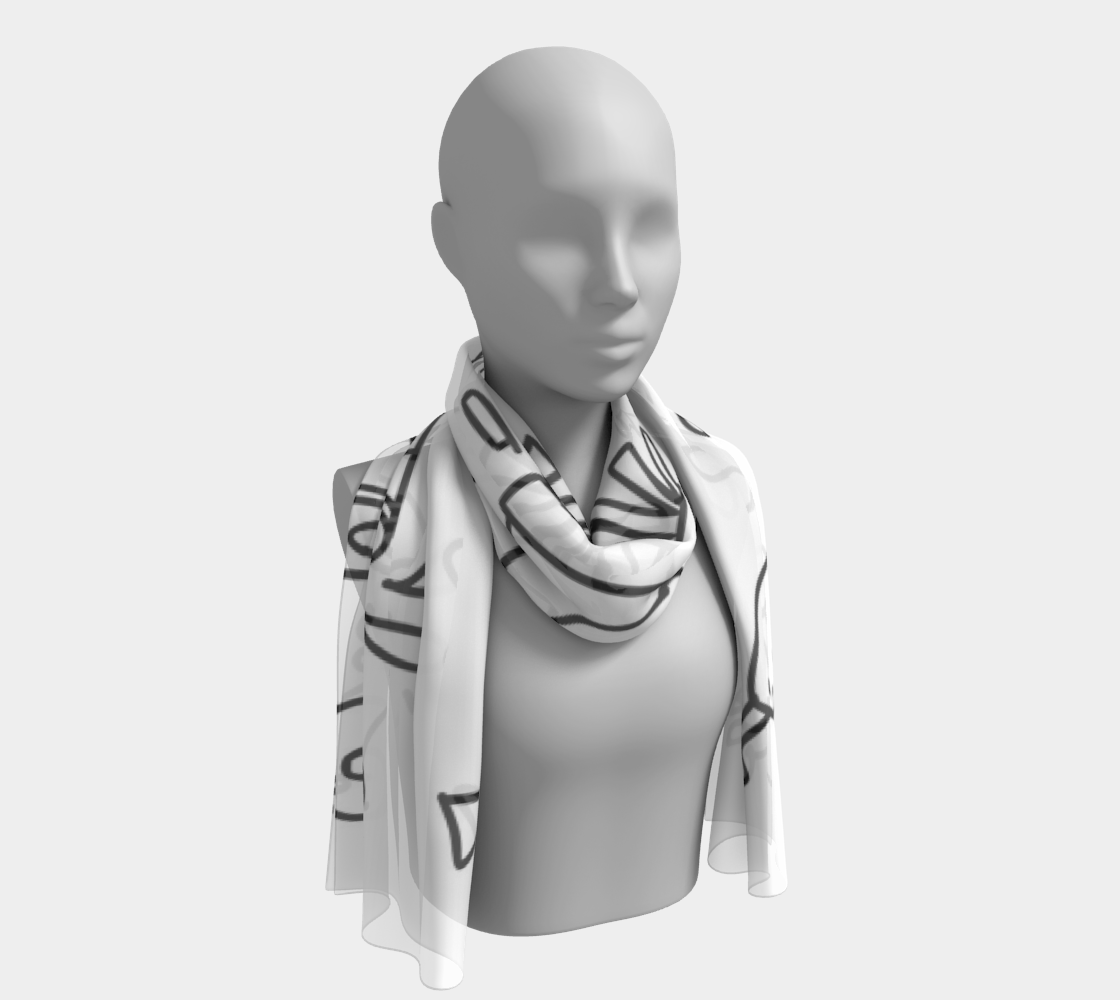 Fast Food long scarf preview