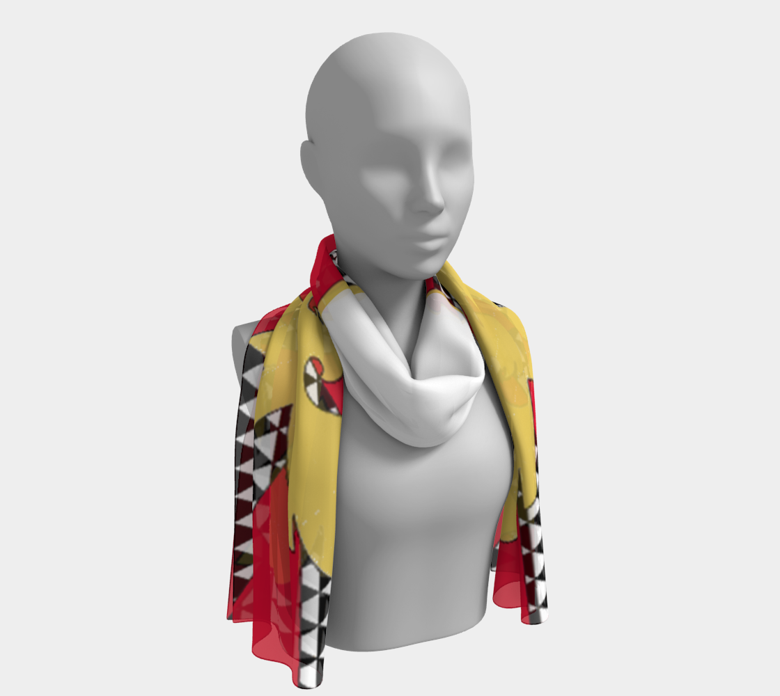 Feather Pride long scarf preview
