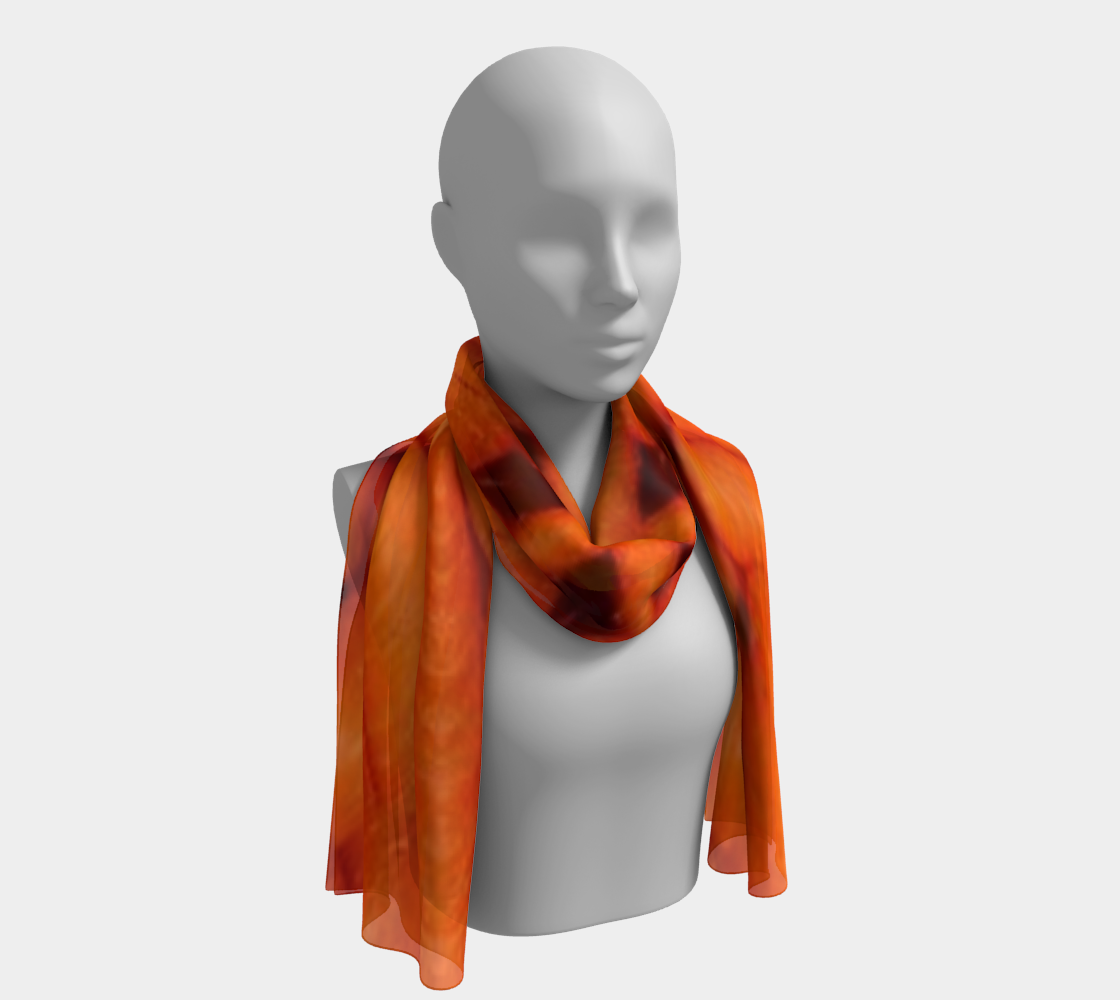 Fractal Carrots long scarf preview