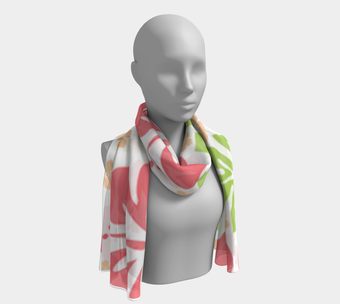Pink Hibiscus Long Scarf preview