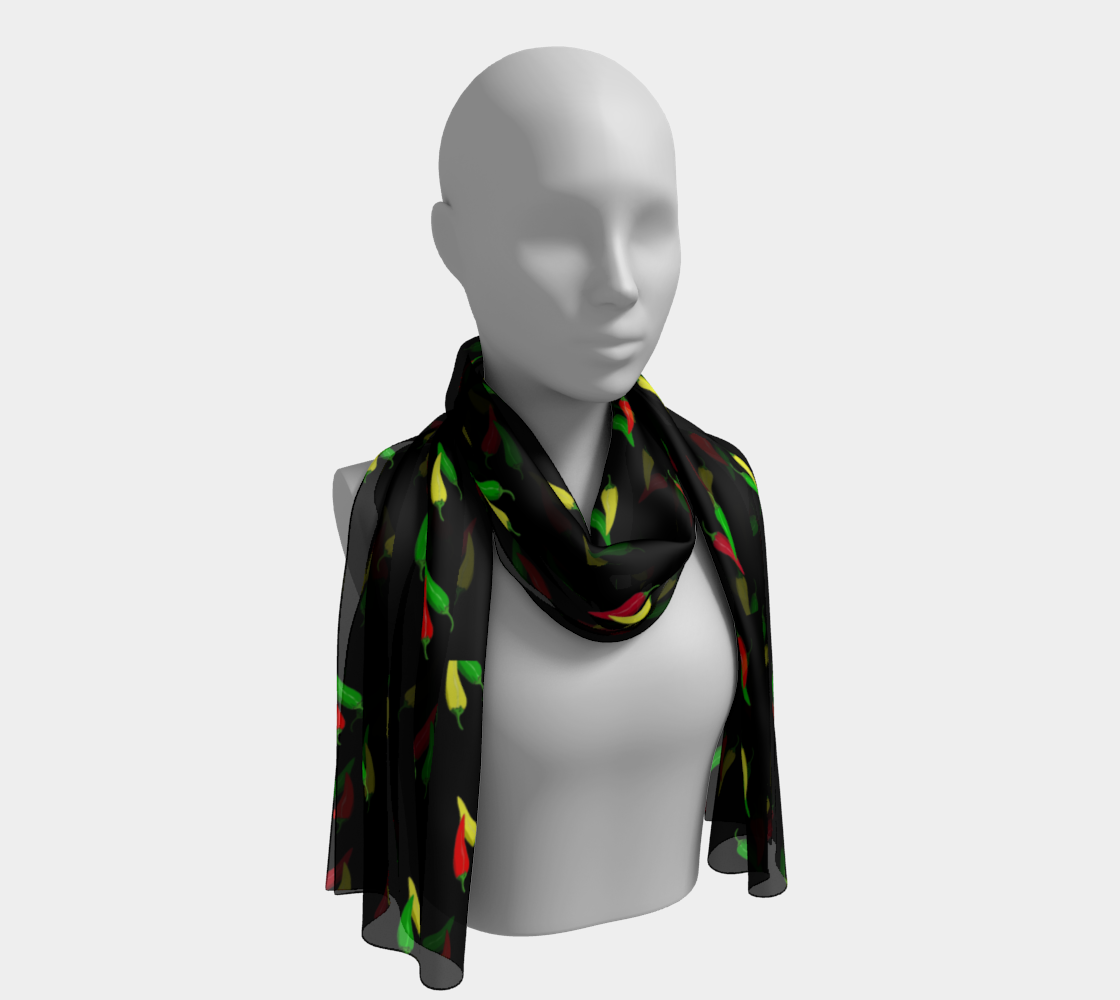 Hot Peppers Long Scarf preview