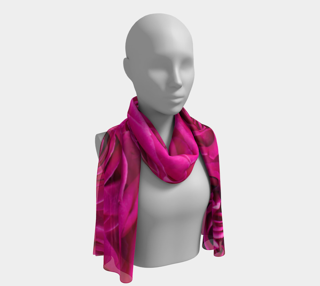 Hot Pink Roses Long Scarf preview