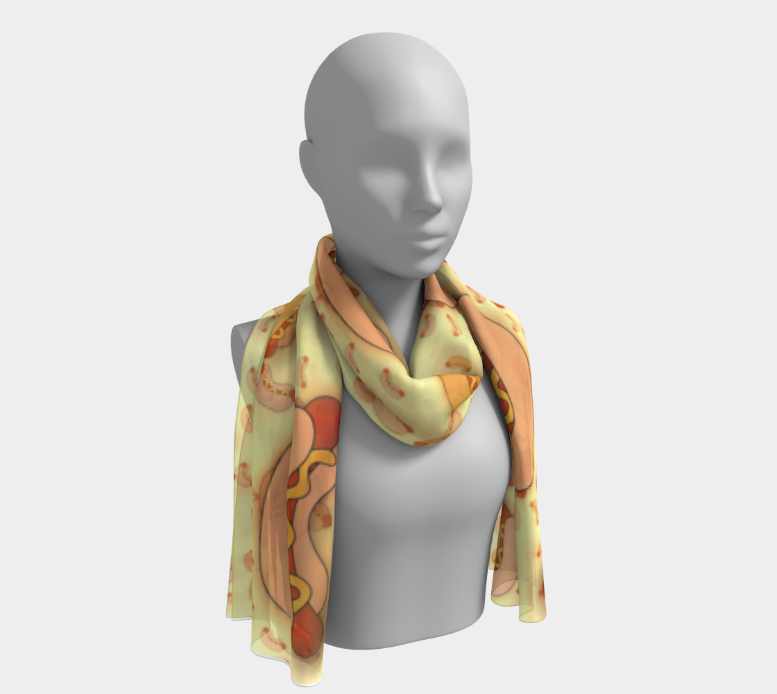 Hot Dogs Forever Long Scarf preview