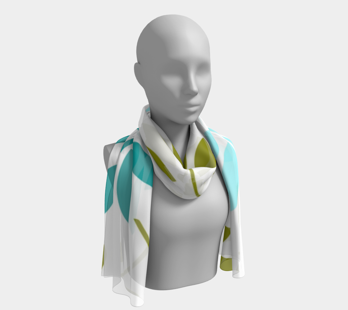 Leaves on White winter long scarf preview #1