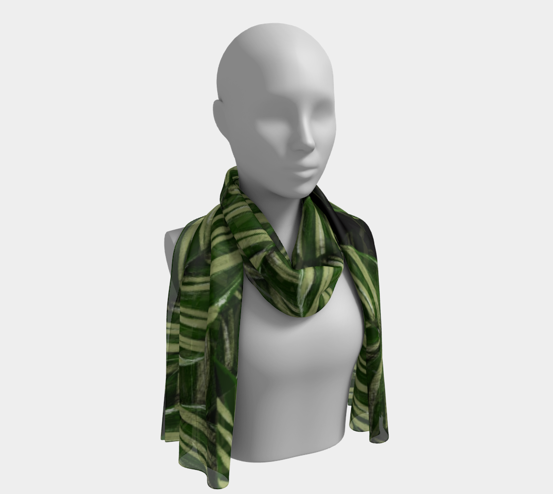 Leaves winter long scarf preview