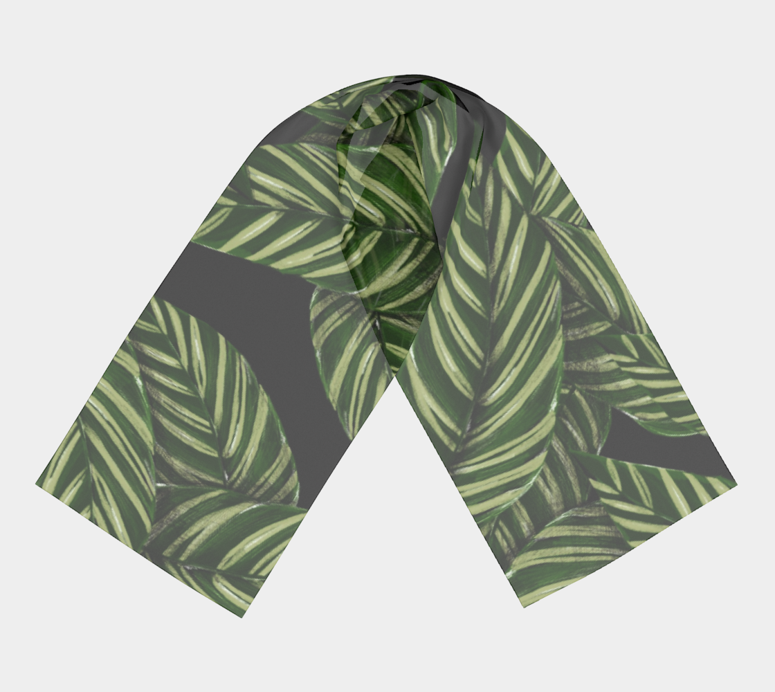 Leaves winter long scarf preview #3