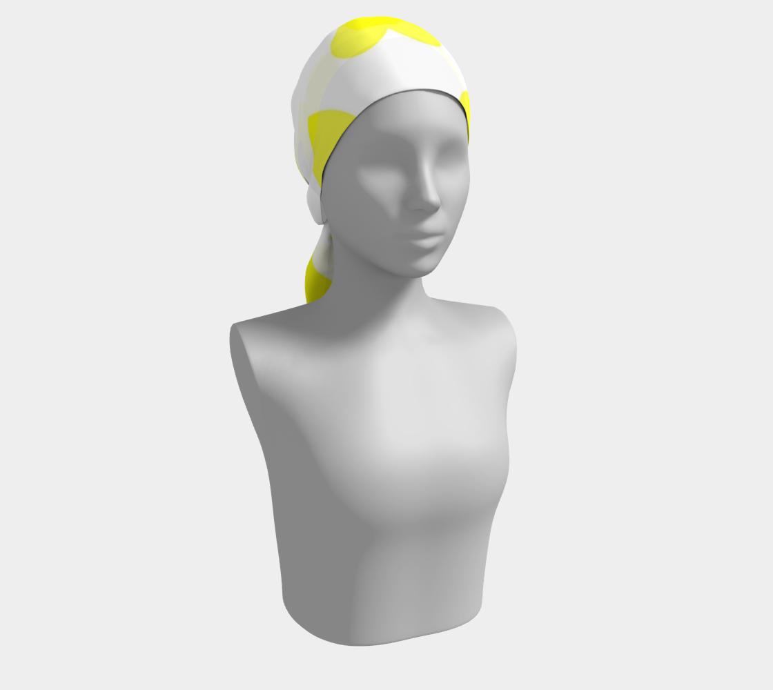Lemon Yellow Hearts winter long scarf preview #2