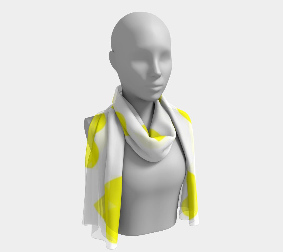 Lemon Yellow Hearts winter long scarf preview #1