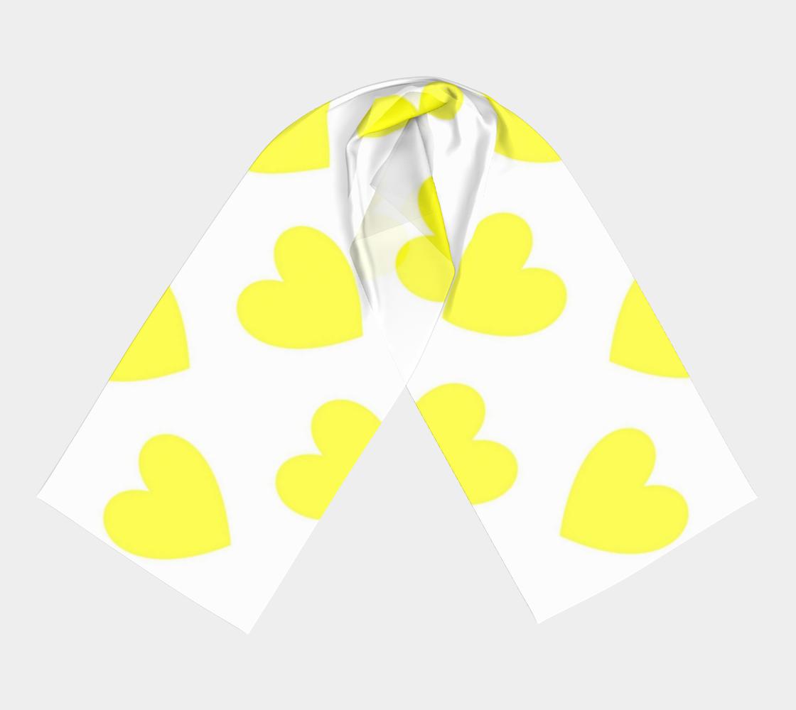 Lemon Yellow Hearts winter long scarf preview #3