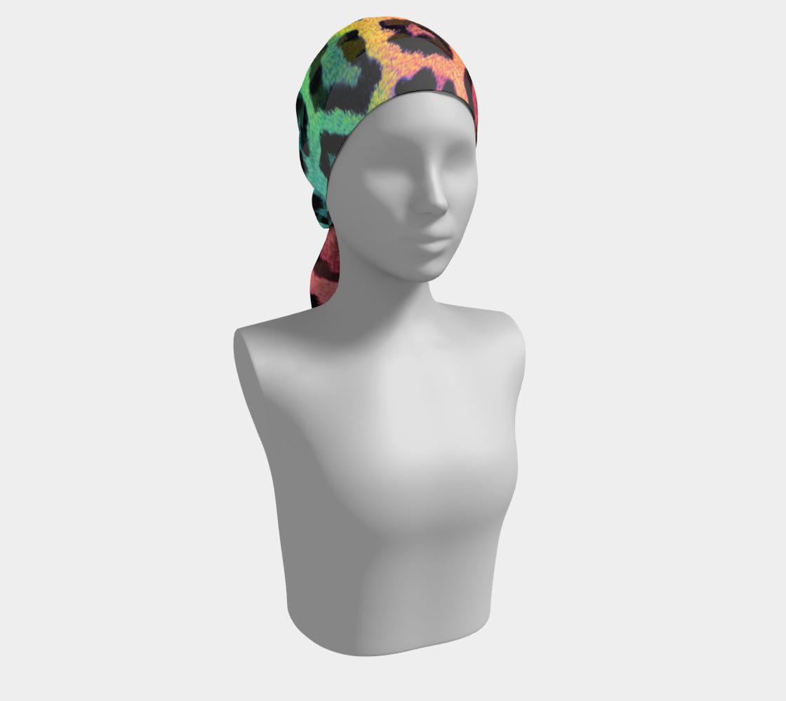 Rainbow Leopard LGBTQ+ winter long scarf preview #2