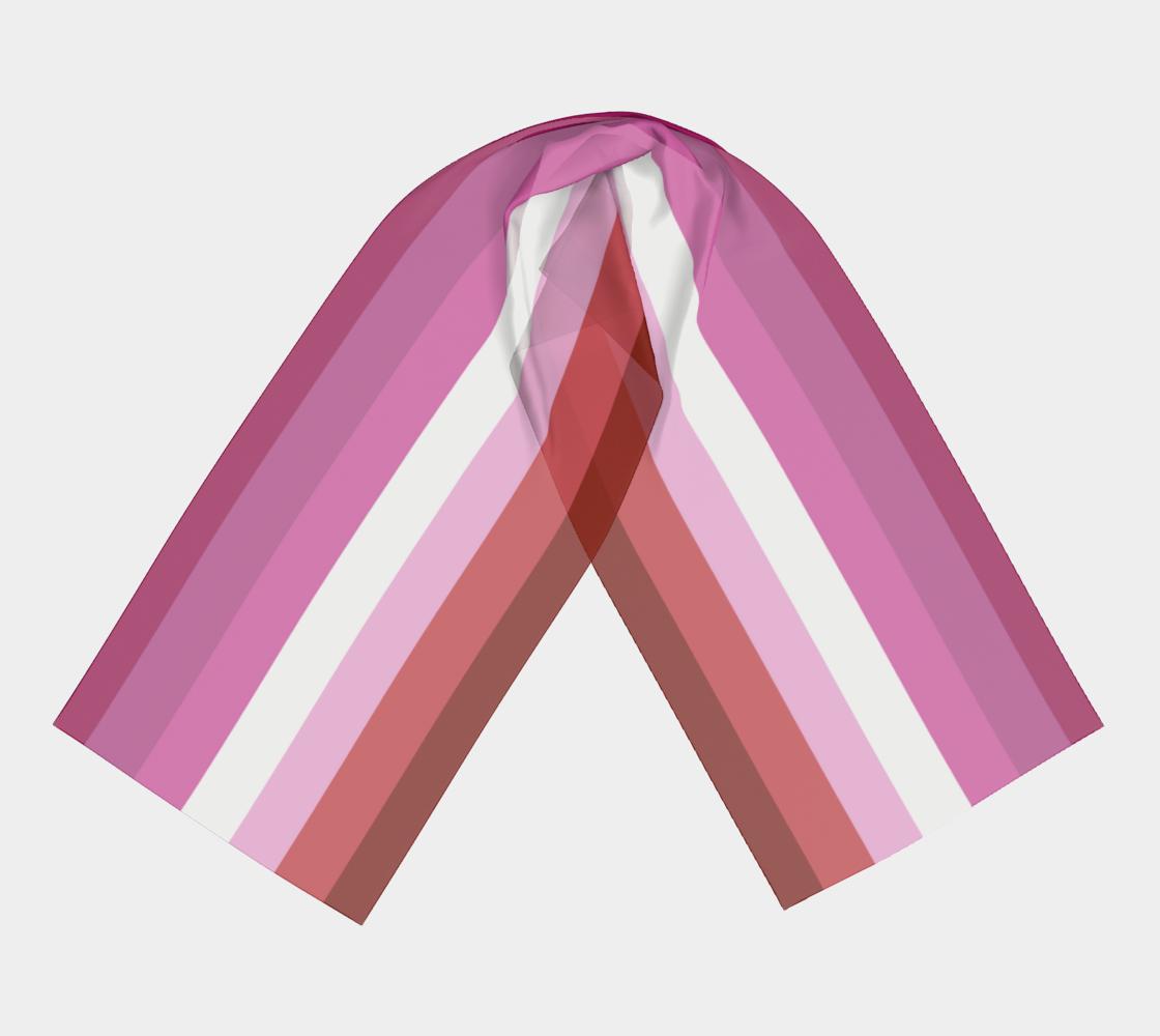 Lesbian Flag LGBTQ+ winter long scarf preview #3