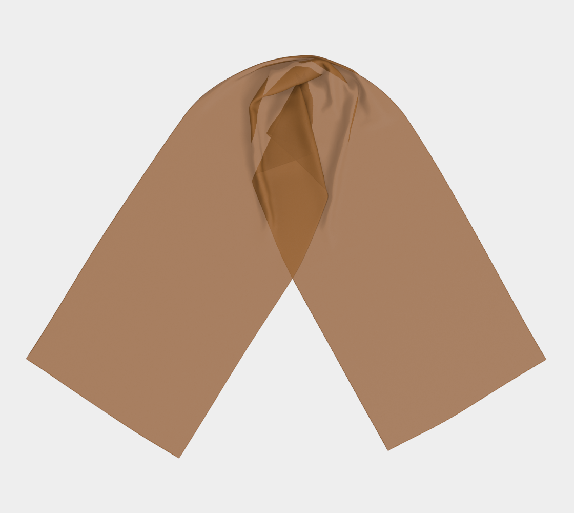 Light Brown winter long scarf preview #3