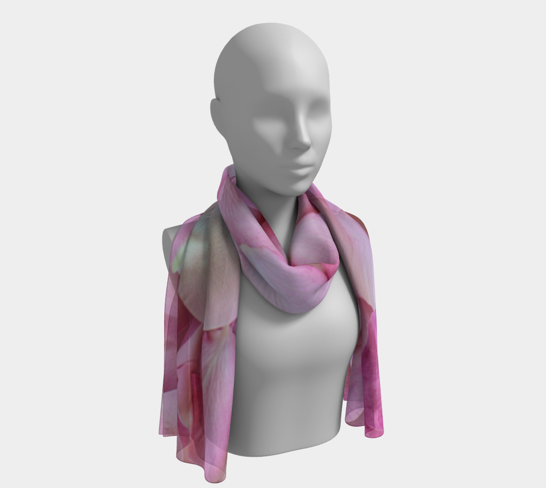Light Pink Rose Petals winter long scarf preview