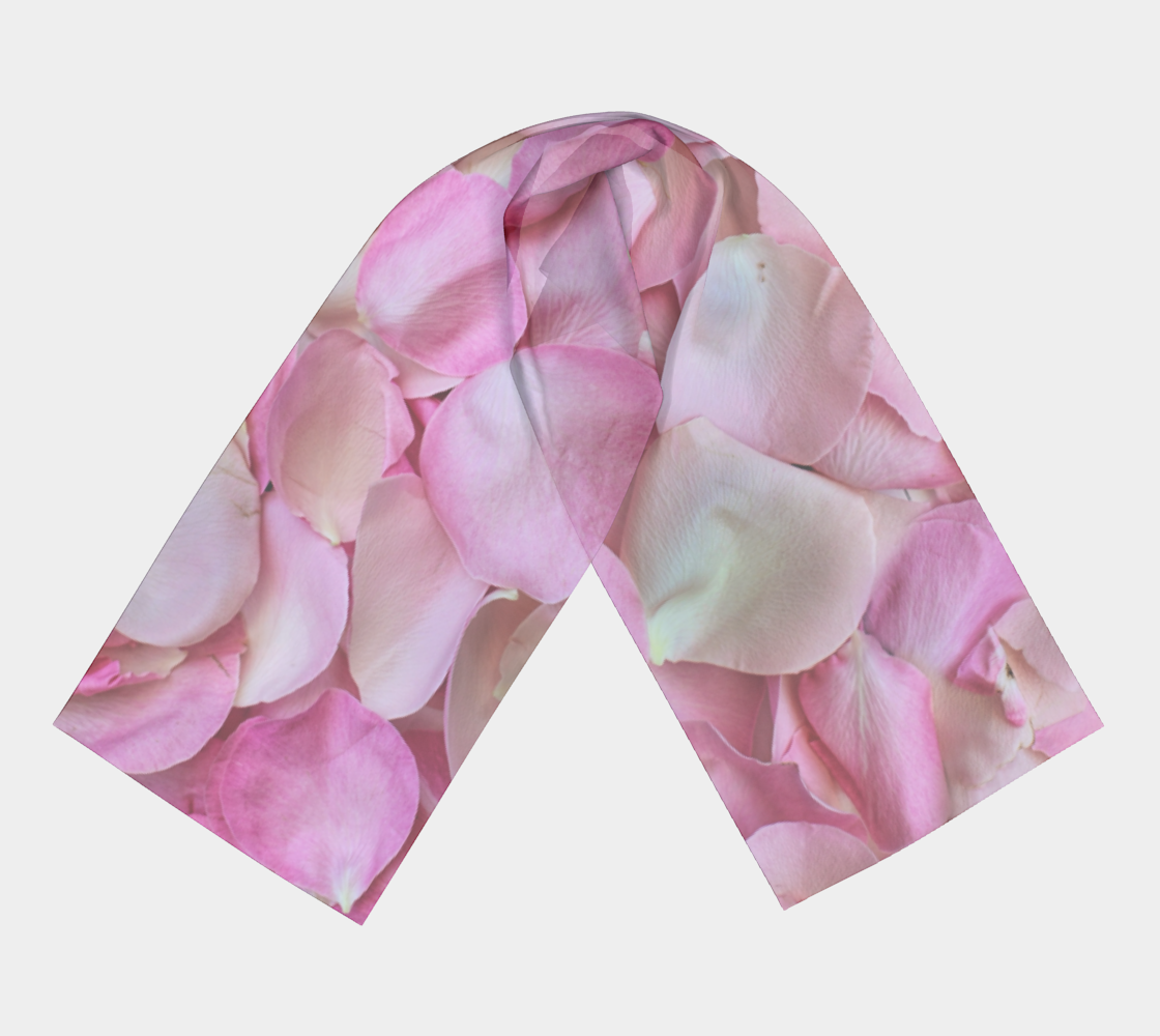 Light Pink Rose Petals winter long scarf preview #3