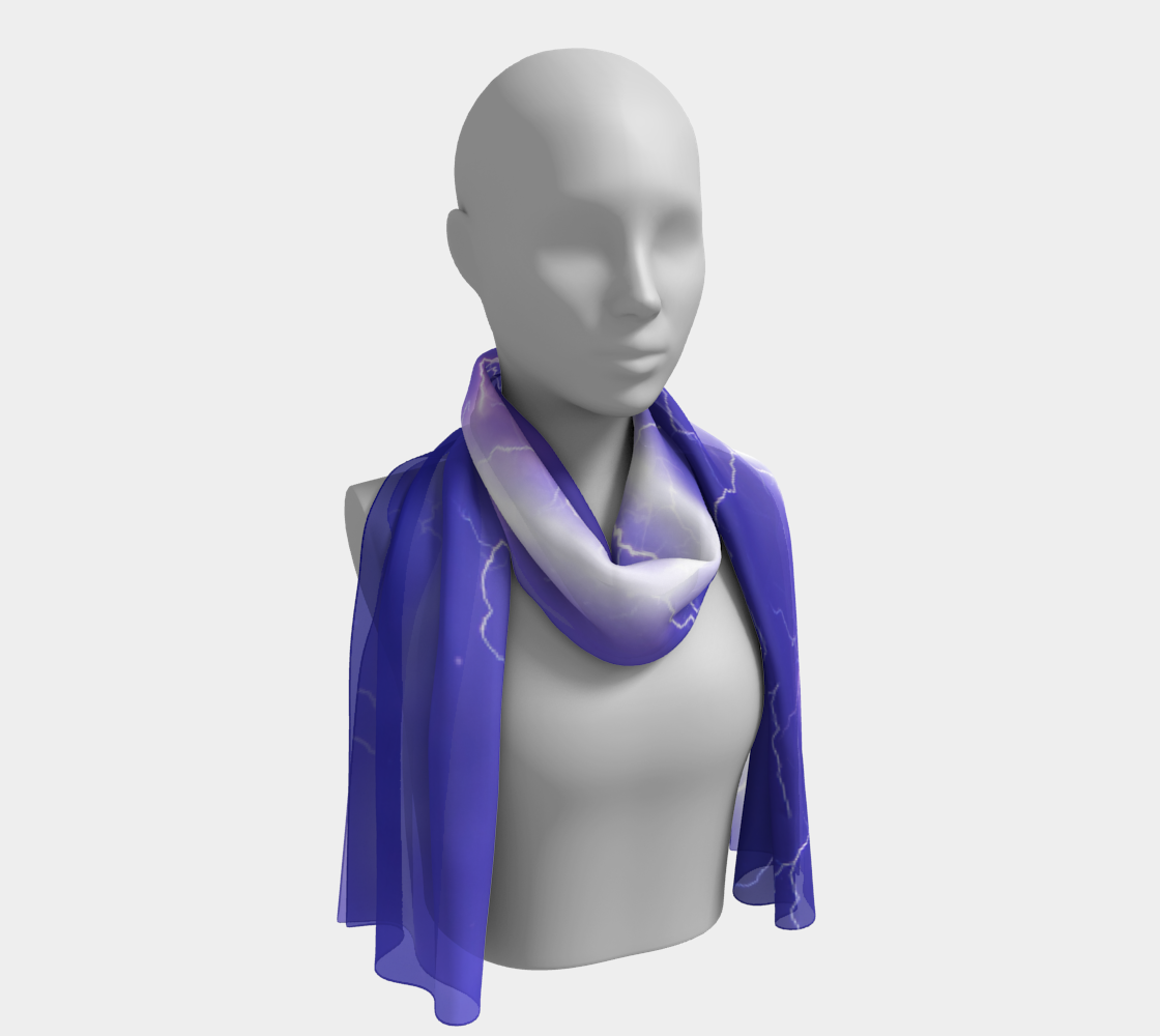 Lightning winter long scarf preview