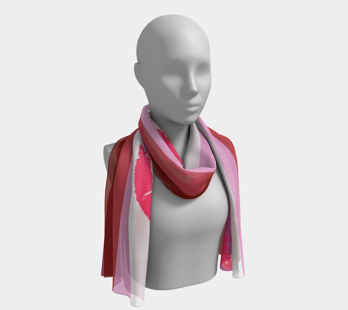 Lipstick Lesbian LGBTQ+ flag winter long scarf preview