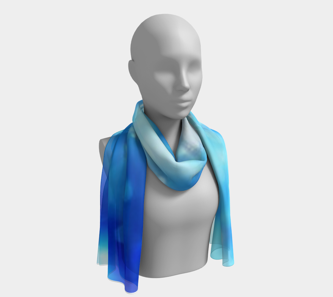 Liquid Blue winter long scarf preview