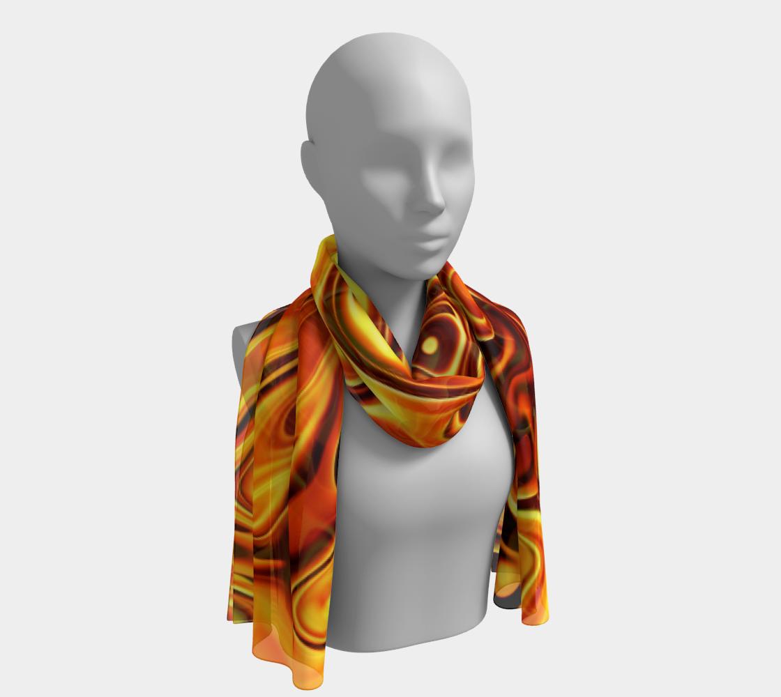 Liquid Orange winter long scarf preview #1