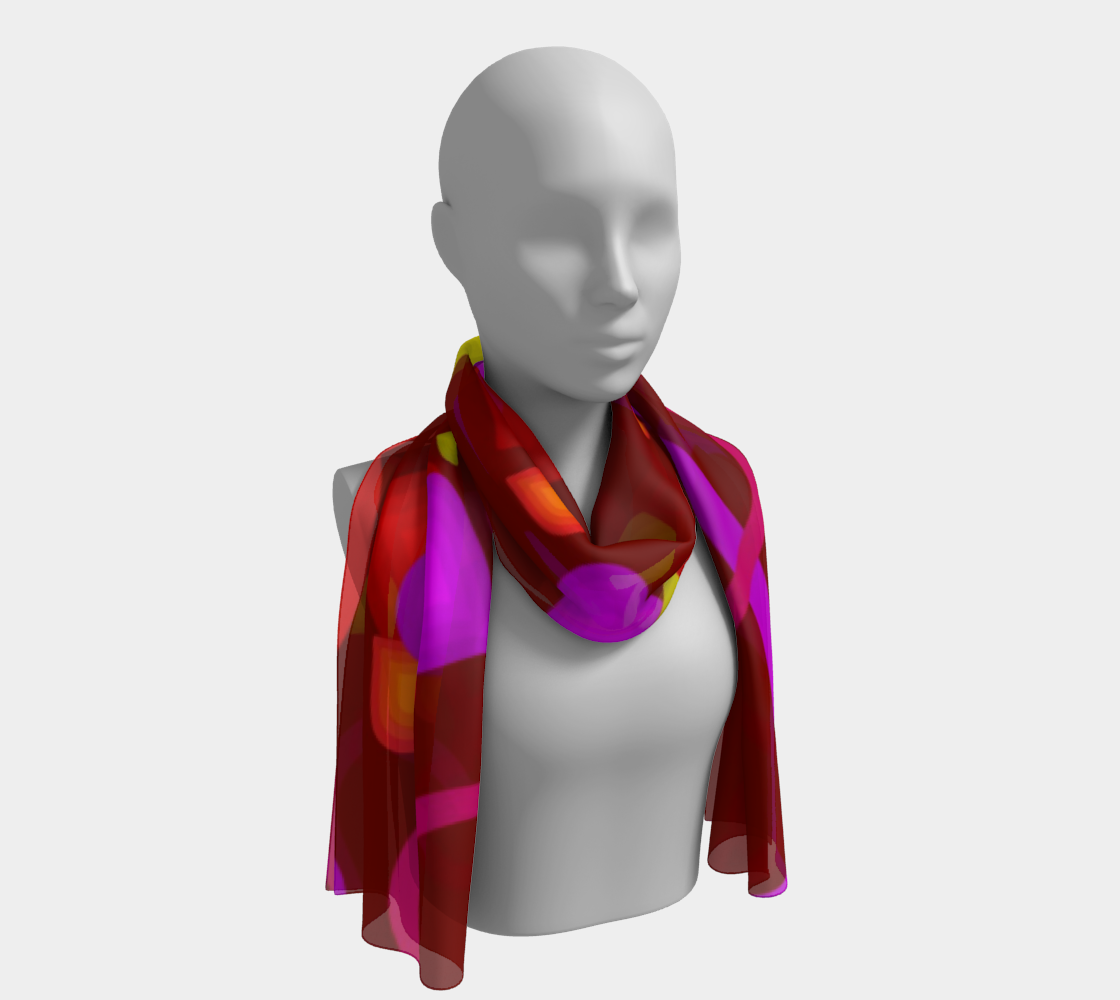 Love Heart winter long scarf preview