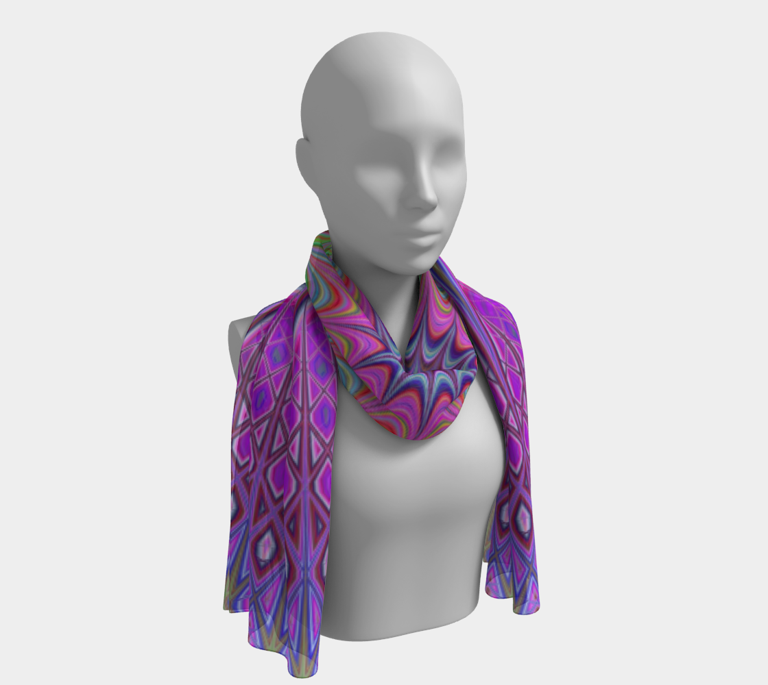Lukewarm Illusion winter long scarf preview #1