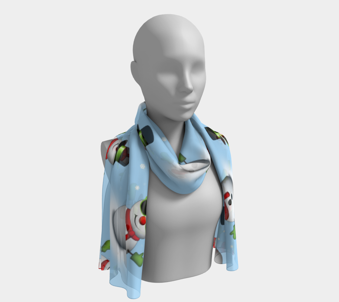 Cool Snowman Shades Adorable Smirk Winter pattern preview