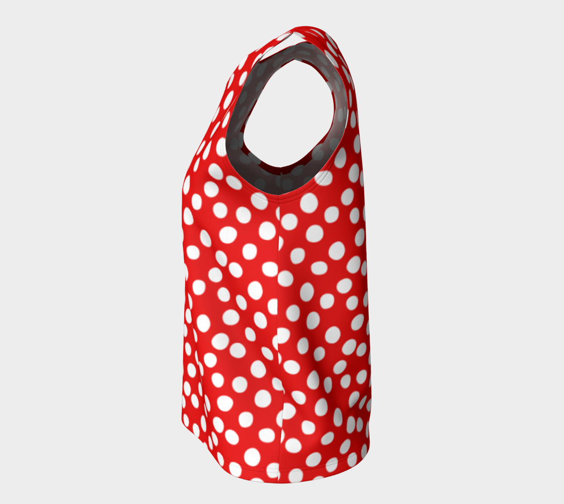 All About the Dots Loose Tank Top - Red preview #7