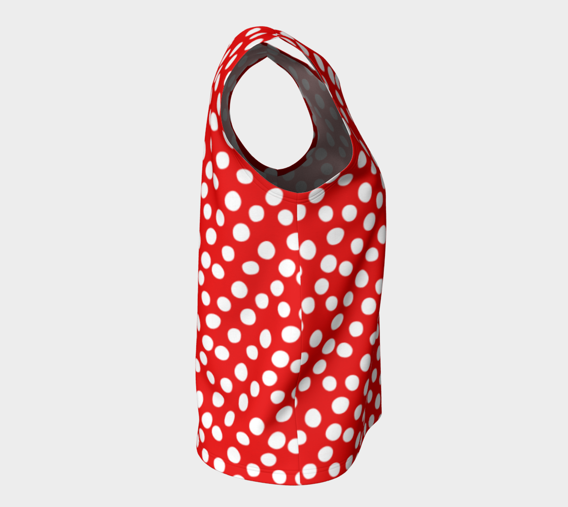 All About the Dots Loose Tank Top - Red preview #8