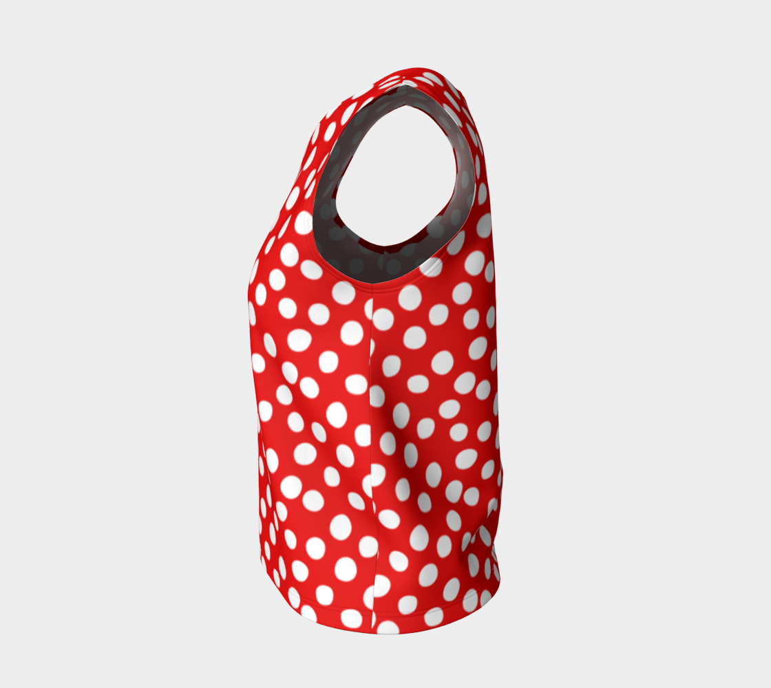All About the Dots Loose Tank Top - Red preview #3