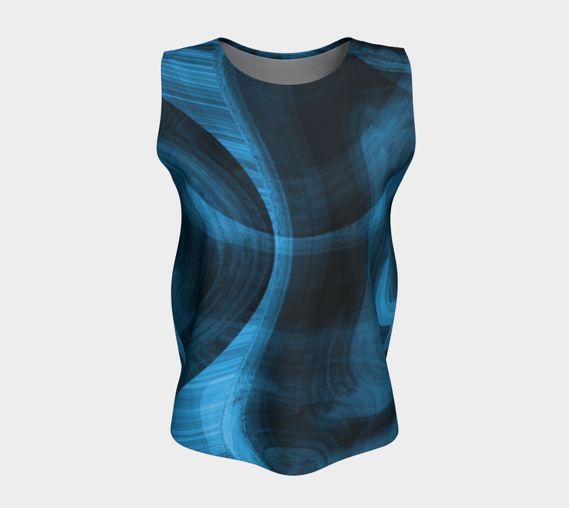 Bluish Black Hole Loose Tank Top preview #5