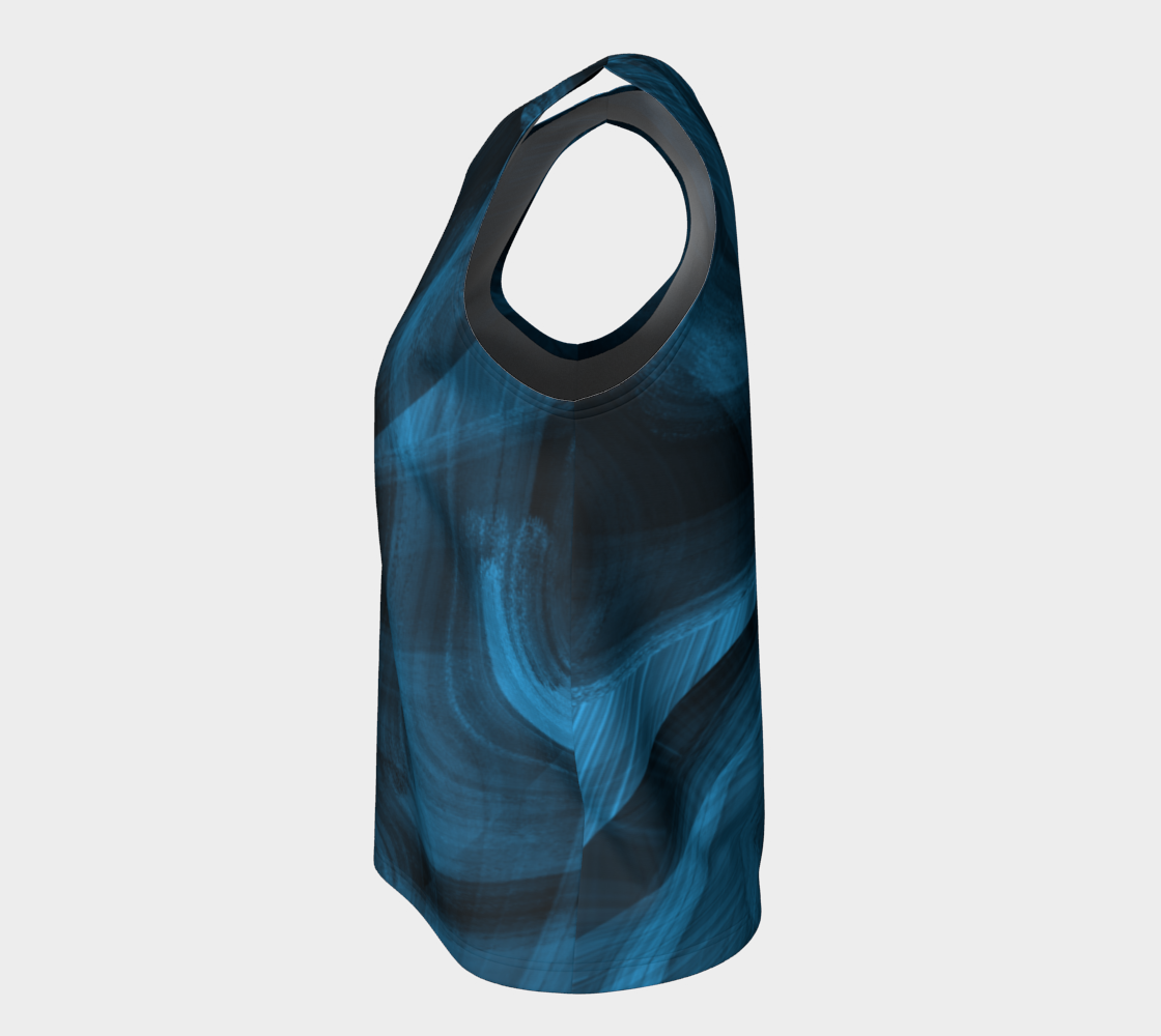 Bluish Black Hole Loose Tank Top preview #7