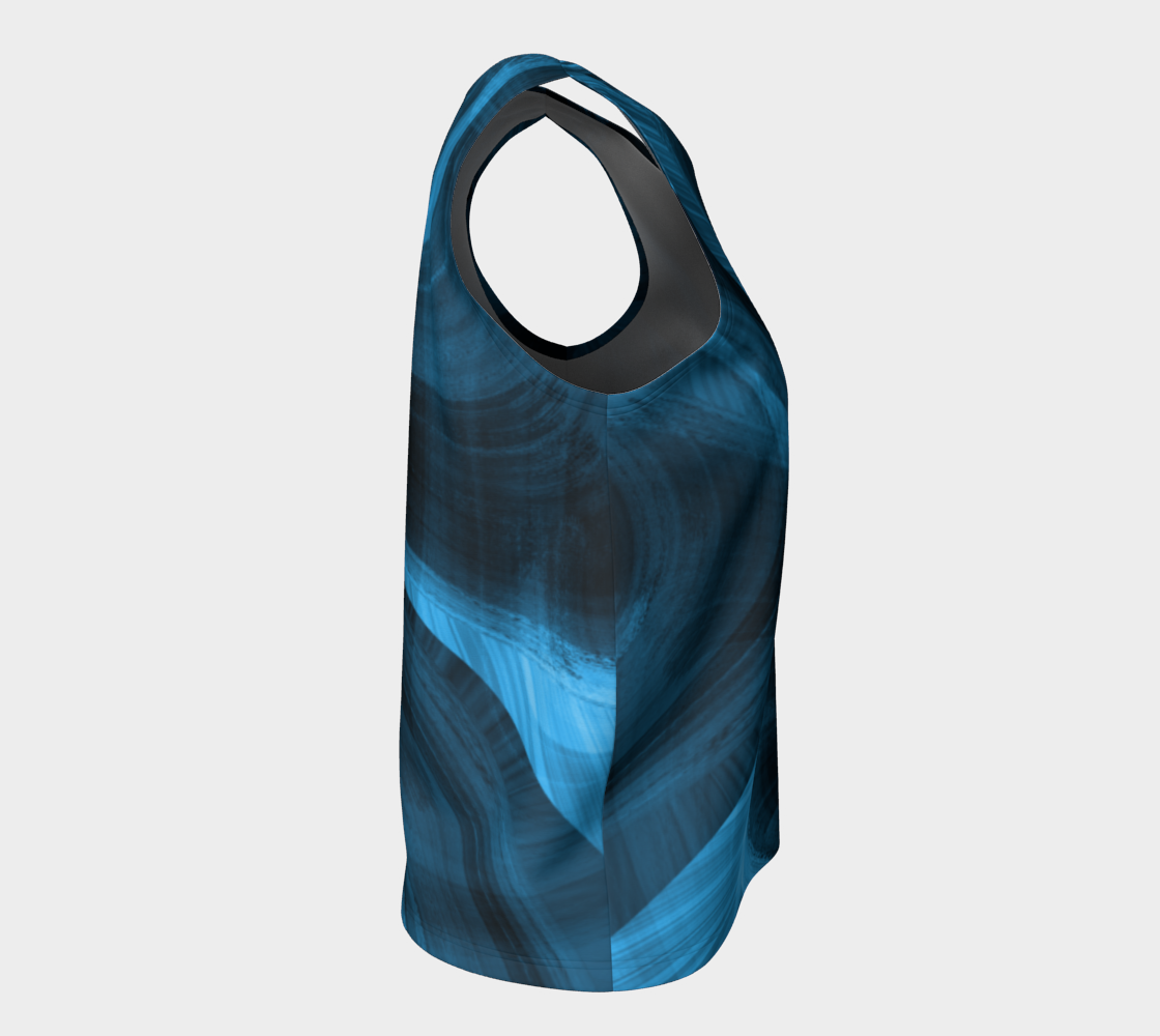 Bluish Black Hole Loose Tank Top preview #8
