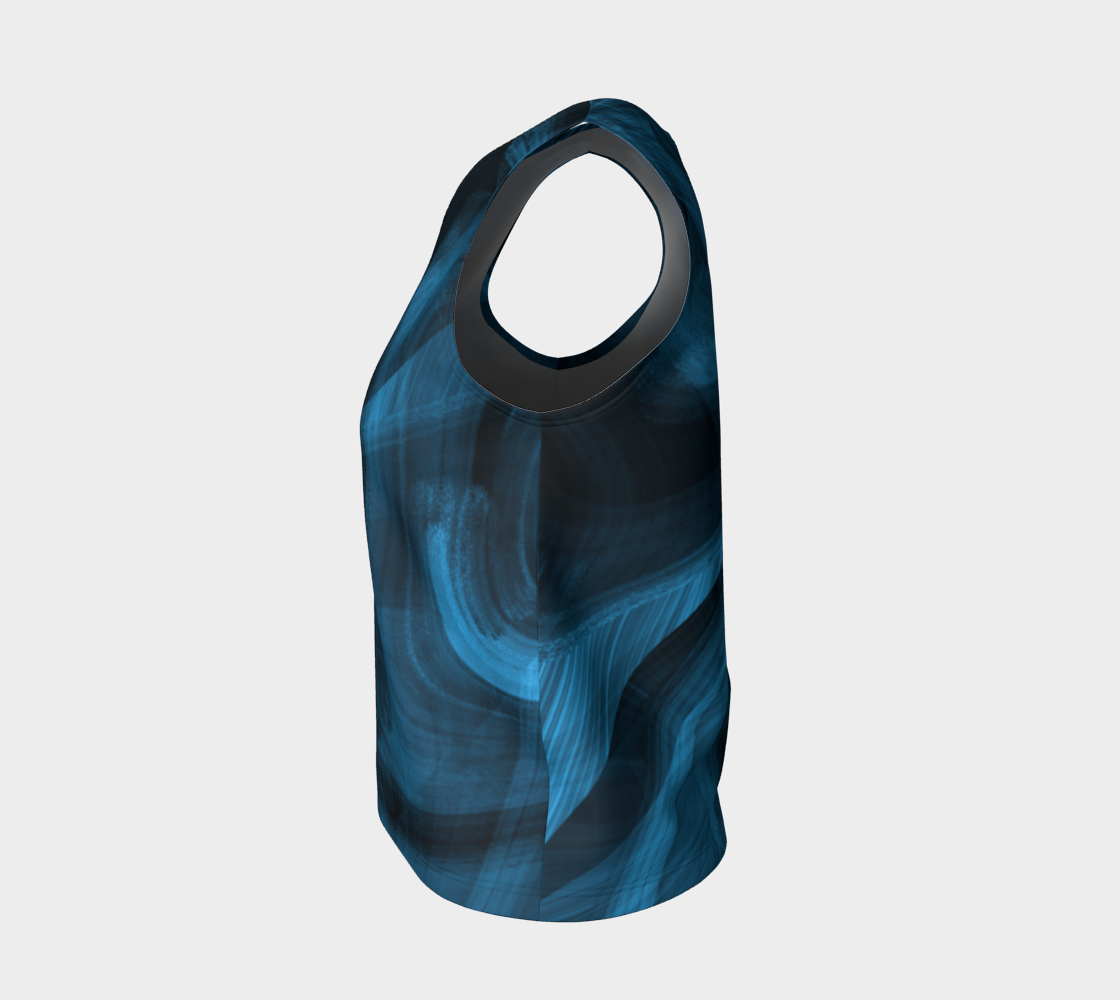 Bluish Black Hole Loose Tank Top preview #3