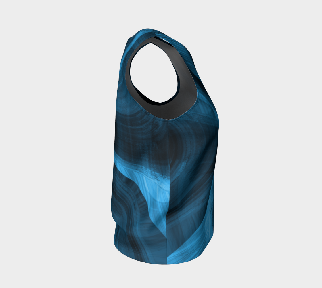 Bluish Black Hole Loose Tank Top preview #4