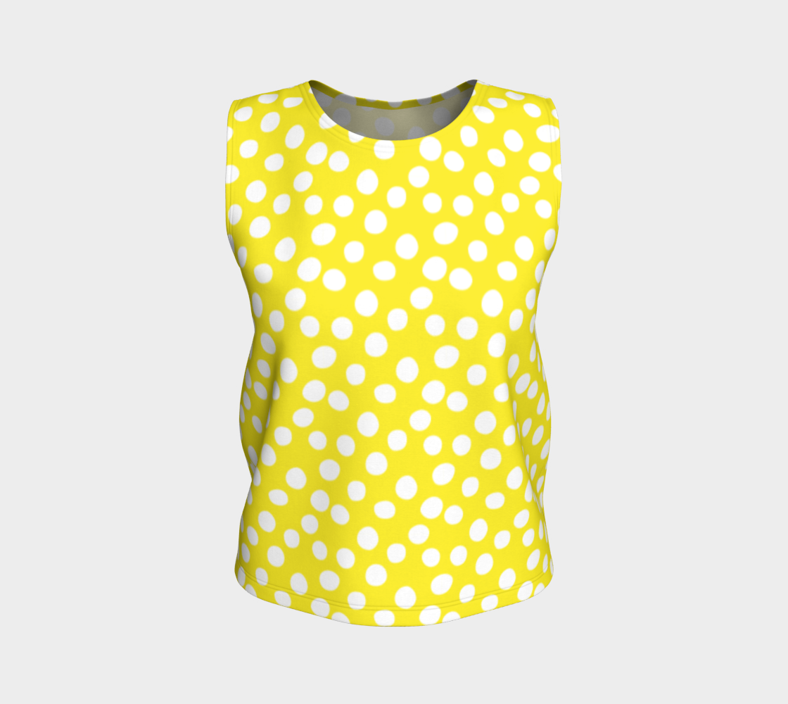 All About the Dots Loose Tank Top - Yellow preview