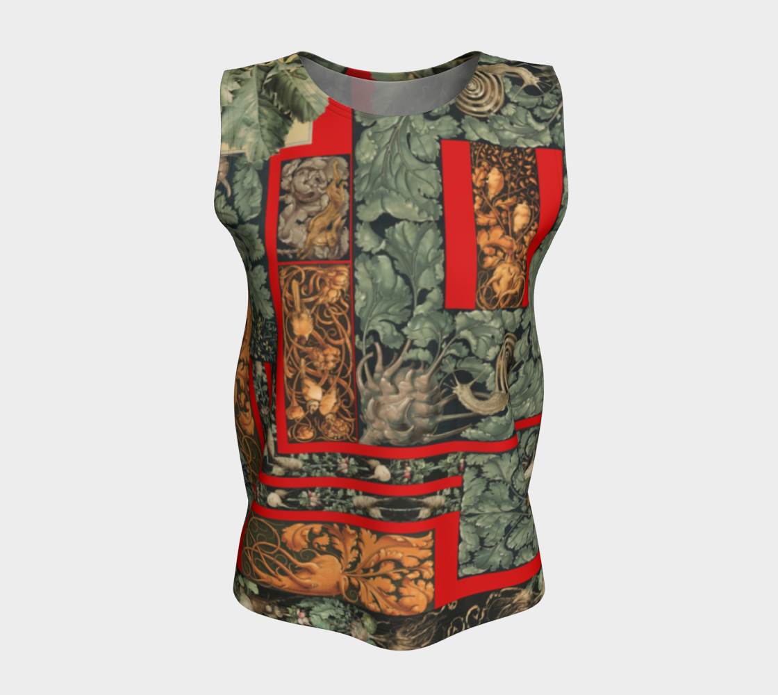 Victorian Vegetables Loose Tank Top preview #5