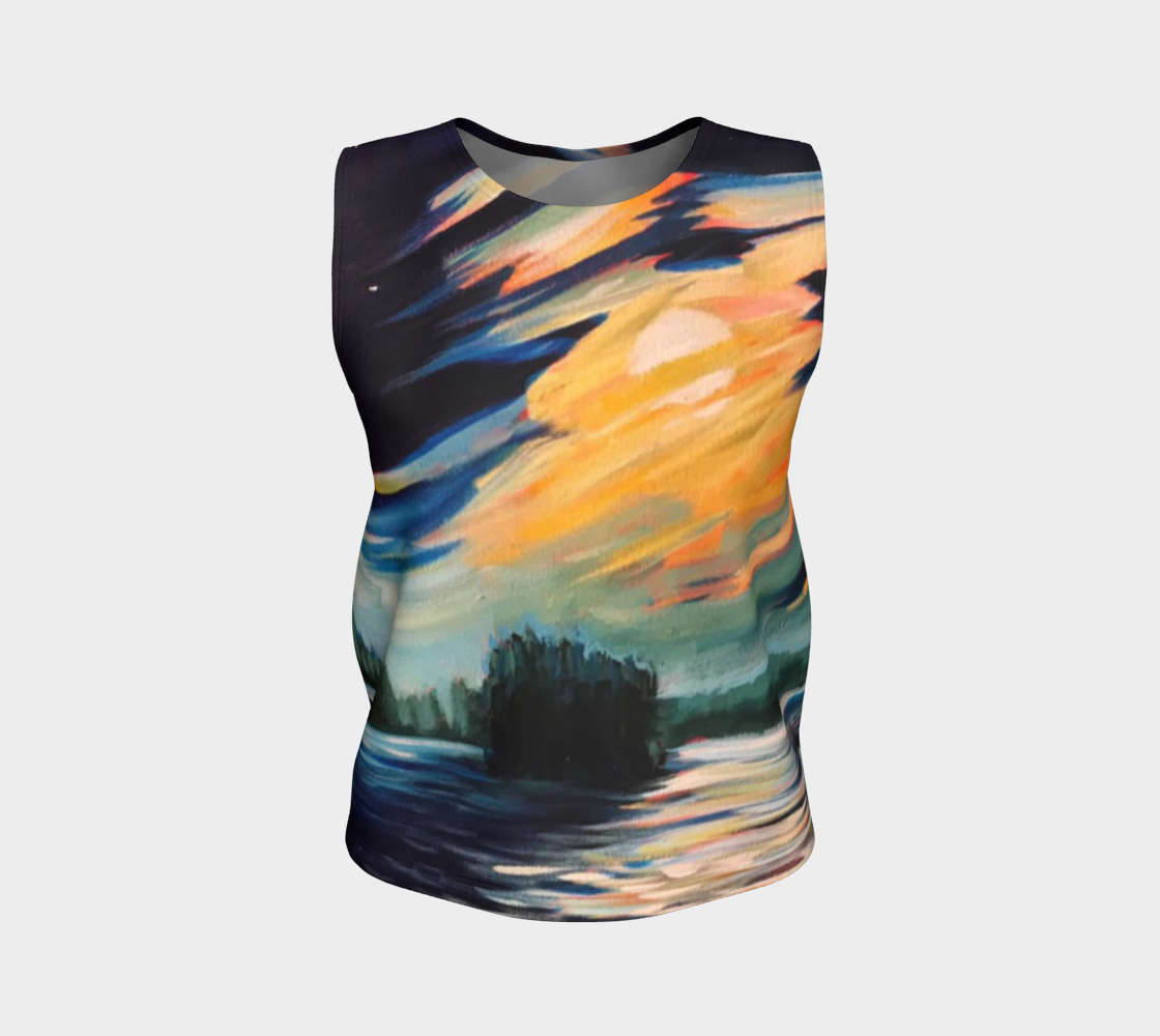 Moon Swept Clouds  Tank Top preview