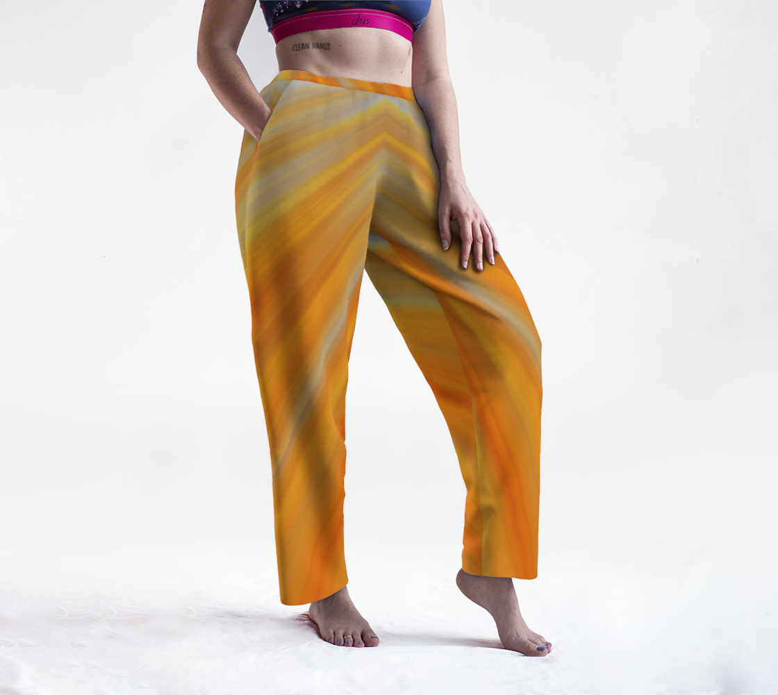 Abstract yellow orange stripes on gray preview
