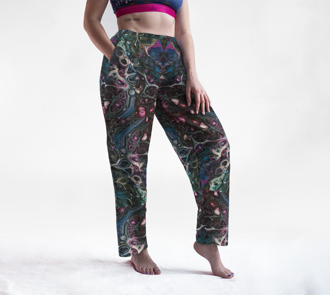 oil slick lounge pants preview