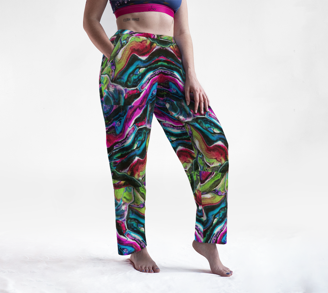 dark bright abstract lounge pants preview