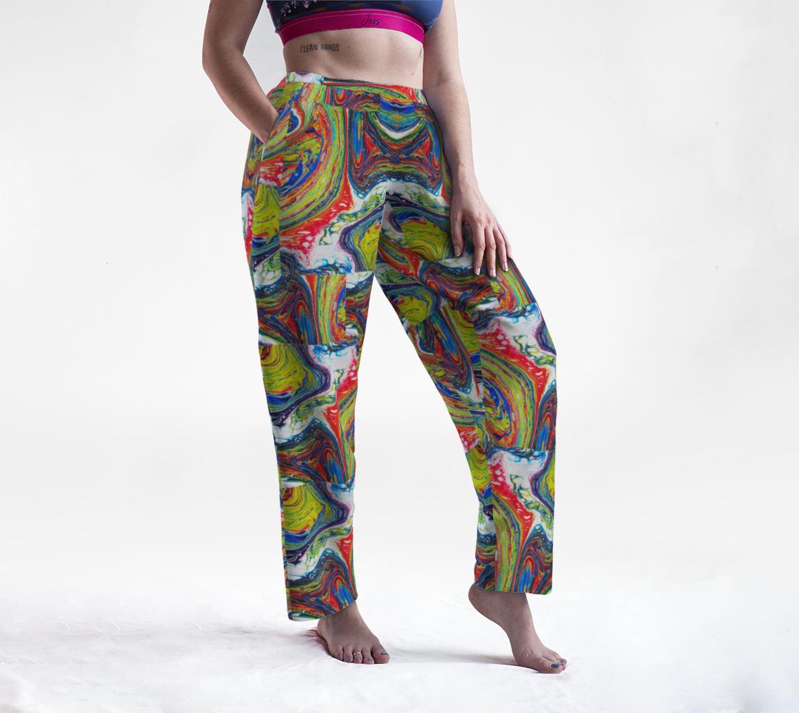 rainbow swirl lounge pants preview